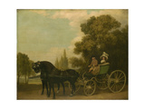 A Gentleman Driving a Lady in a Phaeton  1787