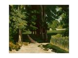 The Avenue at the Jas De Bouffan, 1869-1870 Giclée par Paul Cézanne