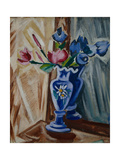 Blue Vase with Flowers  1913