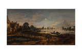 River View by Moonlight  C 1645