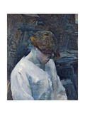 La Rousse in a White Blouse  1889