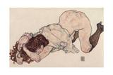 Kneeling Girl  Resting on Both Elbows  1917