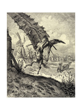 Illustration to the Book Don Quixote De La Mancha by M De Cervantes  1863