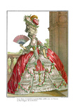 French Court Dress with Wide Panniers  1778