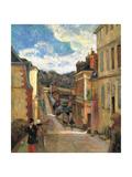 Rue Jouvenet in Rouen  1884