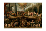 Man Having to Choose Between the Virtues and Vices, 1635 Giclée par Frans Francken The Younger