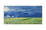 Wheatfield under Thunderclouds, 1890 Giclée par Vincent Van Gogh