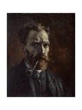 Self-Portrait with Pipe, 1886 Giclée par Vincent Van Gogh