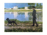 Richard Gallo and His Dog at Petit Gennevilliers  C 1883-1884