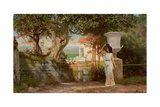 Water Carrier in an Antique Landscape with Olive Trees