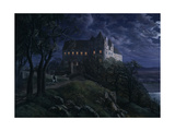 Castle Scharfenberg at Night  1827