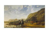 River Landscape with Riders  C 1655