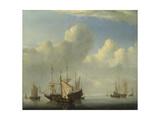 A Dutch Ship Coming to Anchor  1657