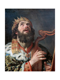 King David Playing the Harp  1622