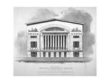 Front View of the Royal Brunswick Theatre  Goodman's Fields  Stepney  London  1828