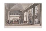 Interior View of the Hall in the Auction Mart  Bartholomew Lane  City of London  1811