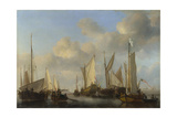 A Dutch Yacht Saluting  1661