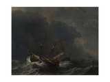 Three Ships in a Gale  1673
