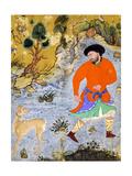 Man with a Saluki  Ca 1555