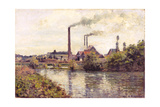 The Factory at Pontoise  1873