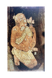 Painting of a Buddhist Monk from the Ajanta Cave Temples  India  5th-6th Century