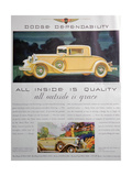 Advert for Dodge Cars  1931