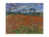 Poppy Field, 1890 Giclée par Vincent Van Gogh