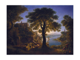 Castle by the River  1820
