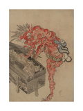 Demon  Possibly Ibaraki  Opening a Box  Early 19th C