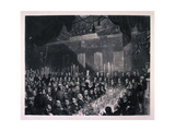 Reform Banquet at the Guildhall  London  1837