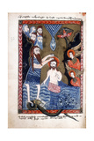 Baptism of Jesus by John the Baptist  from Armenian Evangelistery