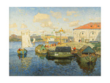 Town on the Volga River  1913