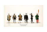 Theatre Costume Designs for Shakespeare's Play  Henry VIII  19th Century
