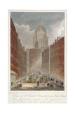 View Along Fleet Street Towards St Paul's Cathedral  City of London  1805