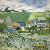 View of Auvers, 1890 Giclée par Vincent Van Gogh