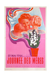 Mother's Day  21st May 1944  Vichy French Poster  1944
