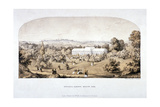 View of the Botanical Gardens in Regents Park  Marylebone  London  1851