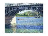 Le Pont D'Argenteuil Et La Seine  Ca 1883