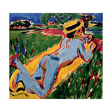 Recycling Blue Nude in a Straw Hat  1909