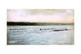 A Trial Spin of the Cornell Crews on Cayuga Lake  1906