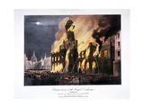 Destruction of the Royal Exchange (2N) Fire  London  1838