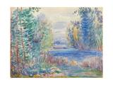 River Landscape, 1890 Giclée par Pierre-Auguste Renoir