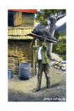 A Man on His Way to Market to Sell a Pig  Jamaica  C1900s
