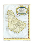 Map of Barbados  C1764