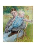 Mathilde Holding Baby  C 1889