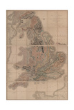 Delineation of the Strata of England and Wales with a Part of Scotland (The First Geological Map Of Giclée par William Smith