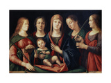 Madonna and Child with Mary Magdalen  Saint Catherine and Two Saints  1504