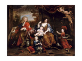 Louis of France  Grand Dauphin (1661-171)  with His Family