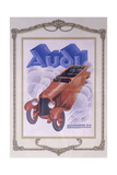 Poster Advertising Audi Cars  1922