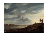 Sunset over the River  1650s